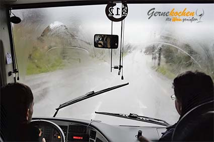 Busfahrt bei Unwetter