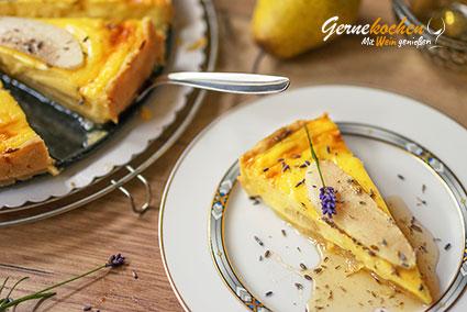 Birnenkuchen mit Lavendel Rezept