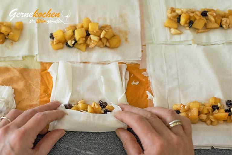 Mini-Bratapfelstrudel - Zubereitungsschritt 4.2