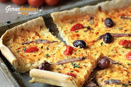 Pissaladíere - Zwiebelkuchen aus Nizza Rezept