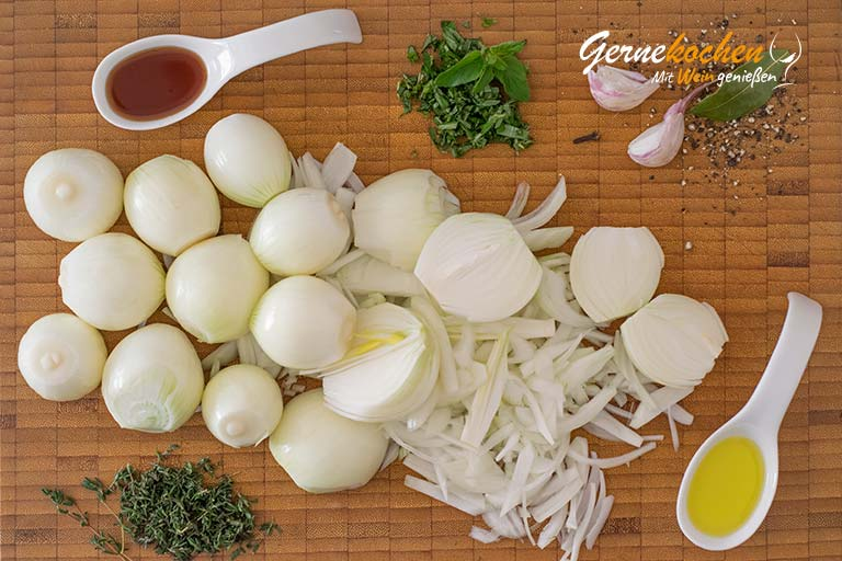Pissaladíere, Zwiebelkuchen aus Nizza - Zubereitungsschritt 5