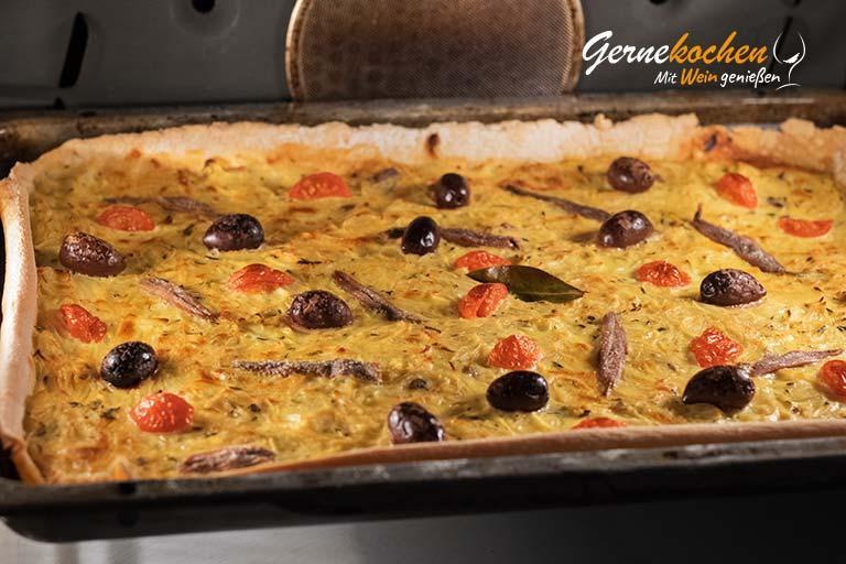 Pissaladíere, Zwiebelkuchen aus Nizza - Zubereitungsschritt 9