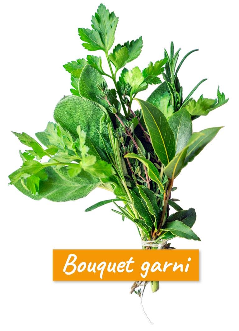 Bouquet garni. Gernekochen - Mit Wein genießen