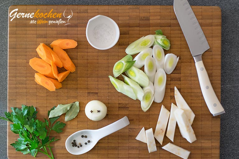 Gemüsefond selber machen - Zubereitungsschritt 1