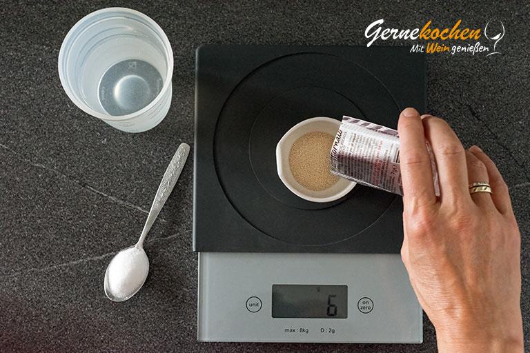 Pizzateig selber machen - Zubereitungsschritt 1.1