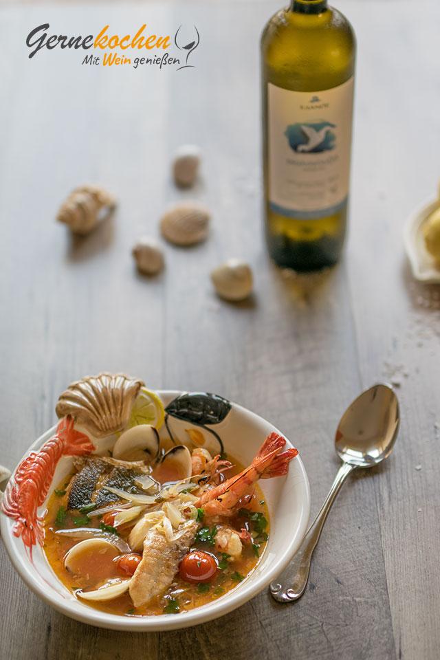 Gernekochen - Mit Wein genießen: Griechische Fischsuppe (Psarósoupa)