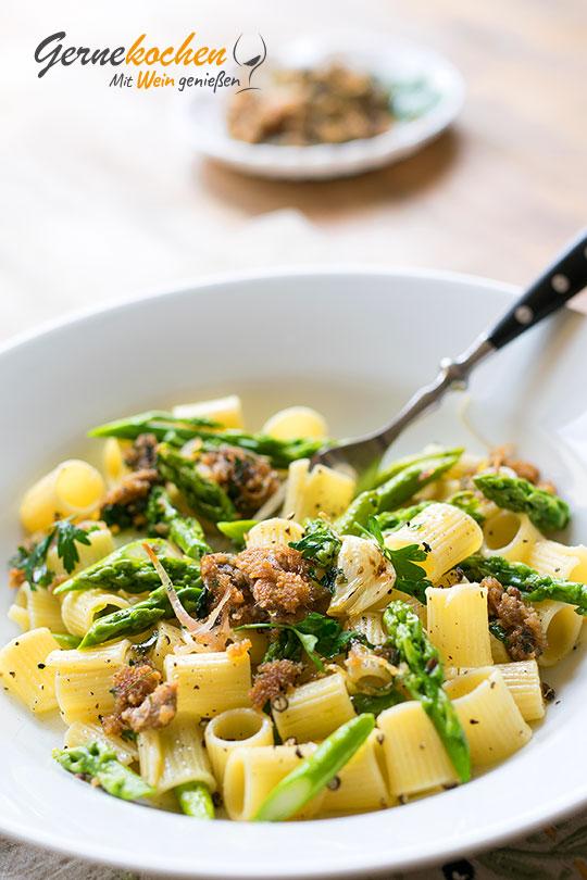 Gernekochen Food-Blog: Spargel-Rigatoni