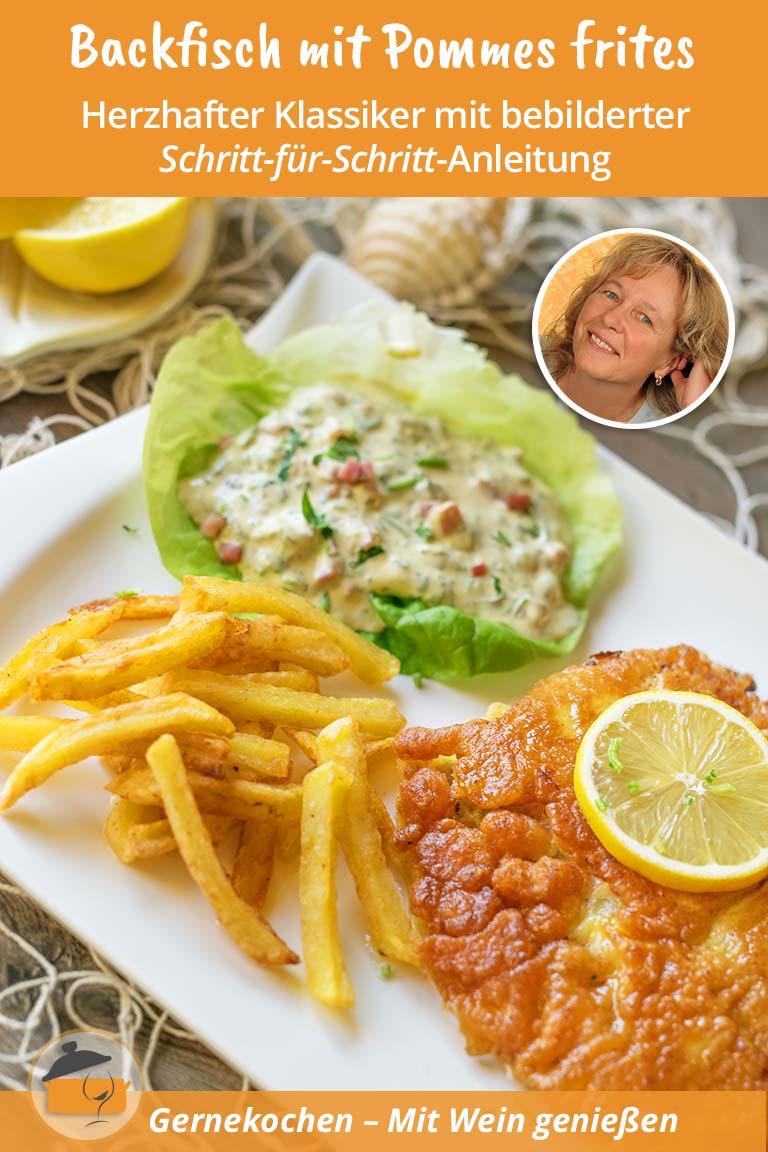 Backfisch mit Pommes frites und Remoulade Rezept