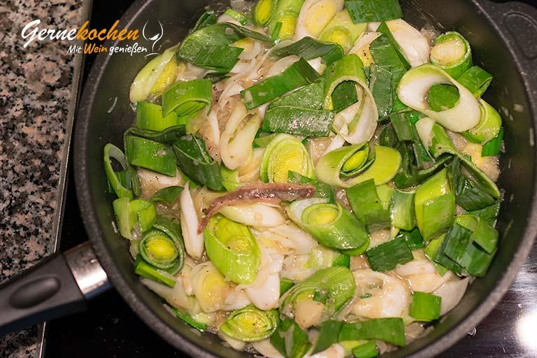 Kabeljaufilet auf Spargel-Lauch-Gemüse – Zubereitungsschritt 3.2