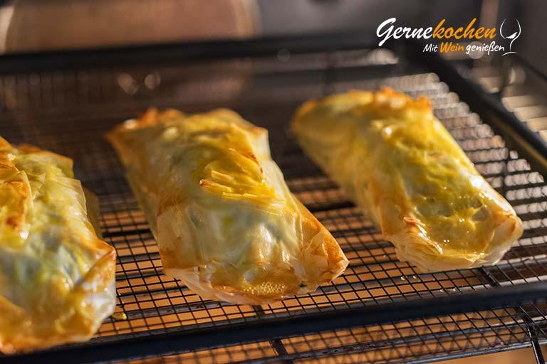 Lachs in Blätterteig mit Karotten und Topinambur - Zubereitungsschritt 4