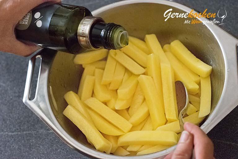 Pommes frites selber machen - Zubereitungsschritt 2.2