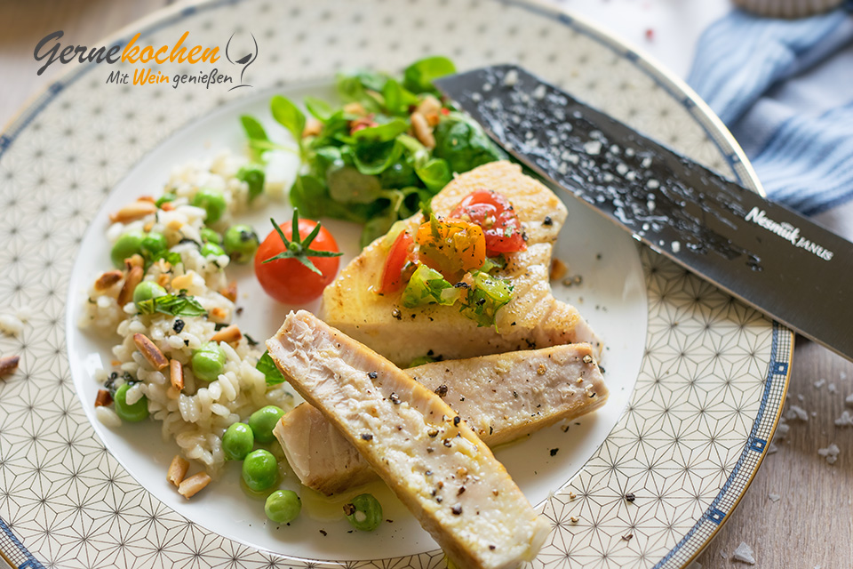 Thunfischsteak mit Nesmuk JANUS. Gernekochen - Mit Wein genießen.