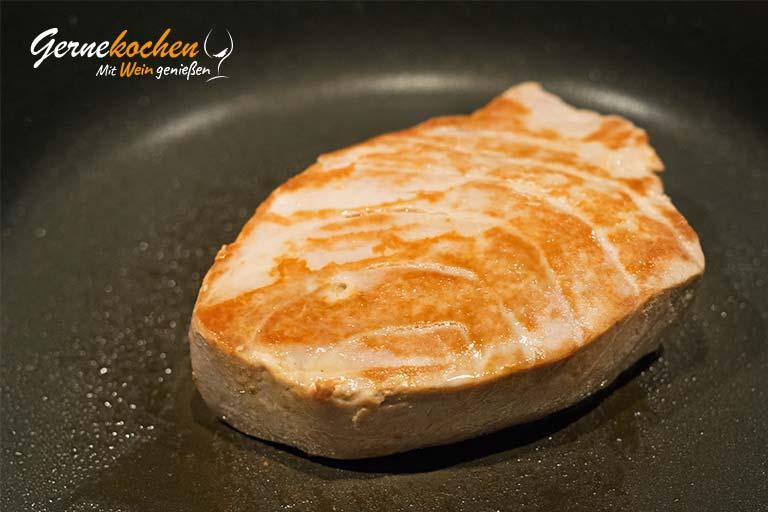 Thunfischsteaks mit Erbsen-Minz-Risotto – Zubereitungsschritt 4