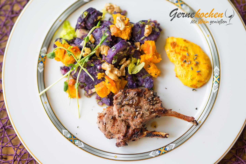 Lammkoteletts vom Grill. Gernekochen - Mit Wein genießen