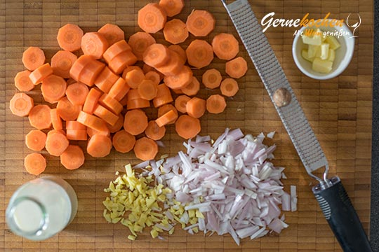 Karotten-Ingwer-Mousse - Zubereitungsschritt 1