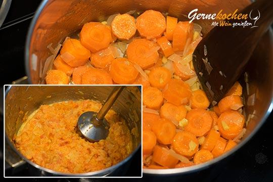 Karotten-Ingwer-Mousse - Zubereitungsschritt 2