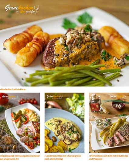 Herzhafte Steakgerichte vom Schwein, Rind, Lamm und Wild