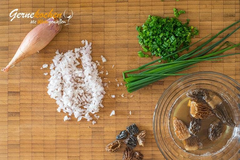 Kalbsfilet mit Morchelrahmsauce - Zubereitungsschritt 2