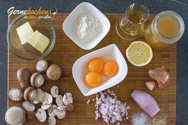 Lendenschnitten mit Champignons – Zubereitungsschritt 1