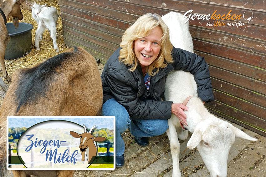 Claudia Salzmann zu Besuch auf Sonjas Ziegenhof