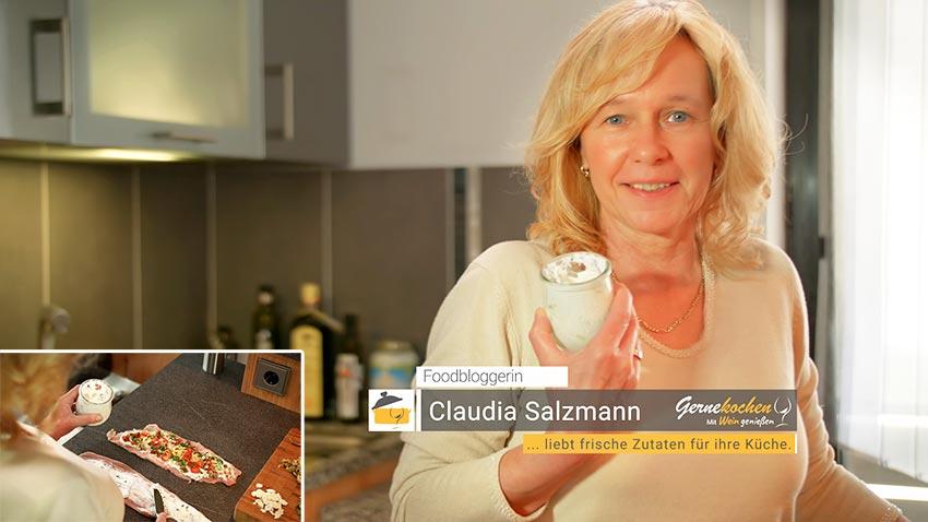 Foodbloggerin Claudia Salzmann. Gernekochen - Mit Wein genießen