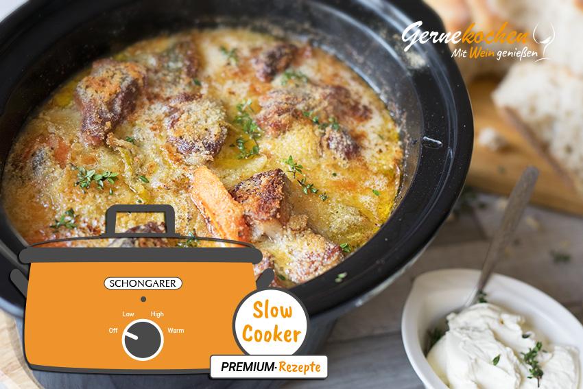 Slow Cooker-Rezepte für Braten, Eintopf, Gulasch, Hähnchen und mehr.