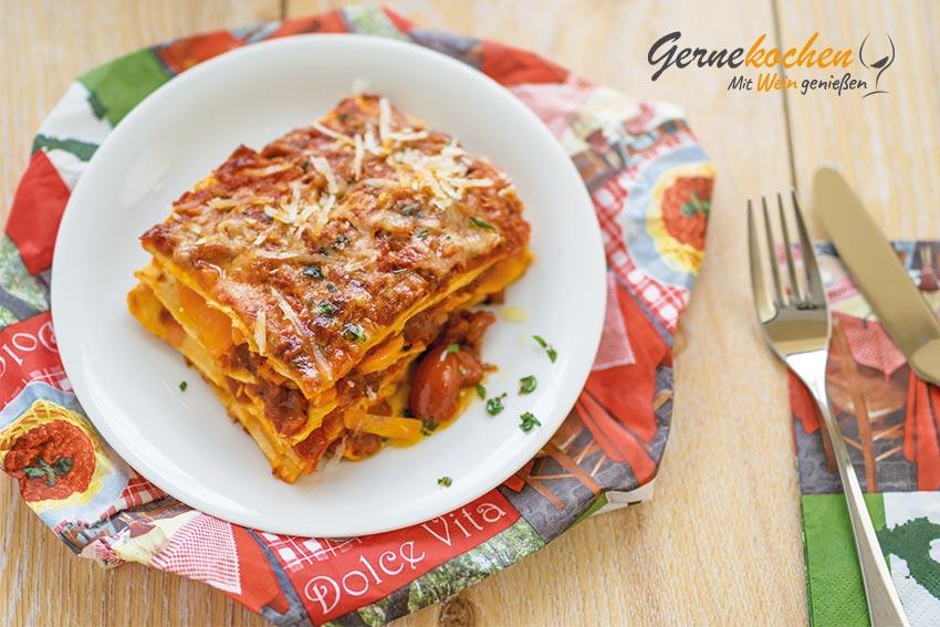 Gemüse-Lasagne. Gernekochen - Mit Wein genießen