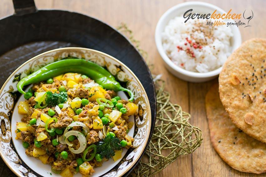 Indisches Hackfleisch-Curry. Gernekochen - Mit Wein genießen