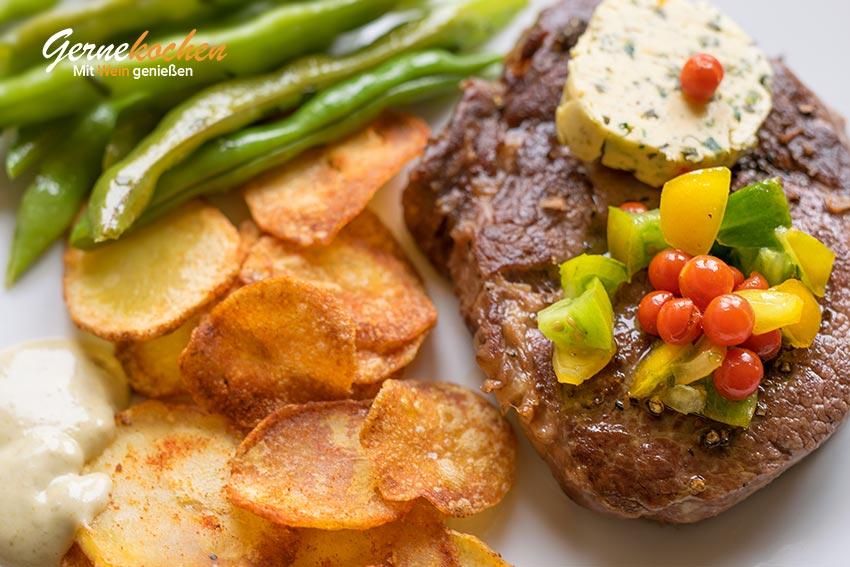 Hereford-Ribeye-Steak vom Grill. Gernekochen - Mit Wein genießen