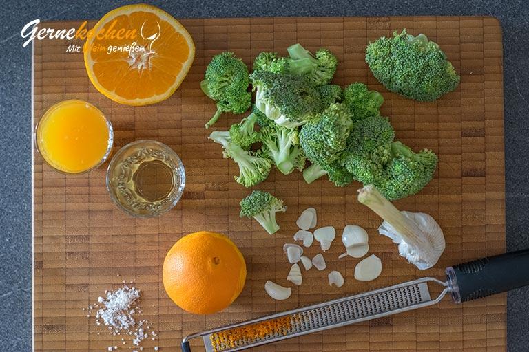 Broccoli-Gemüse - Zubereitungsschritt 1