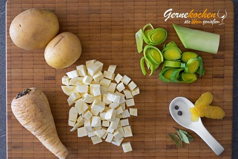 Kartoffel-Lauch-Püree à la Gernekochen - Zubereitungsschritt 1