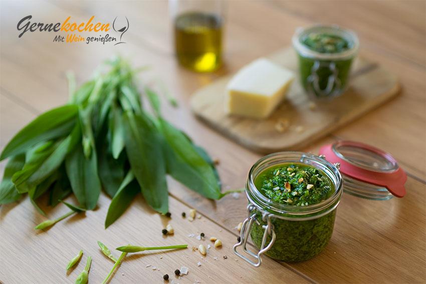 Bärlauch-Pesto. Gernekochen - Mit Wein genießen