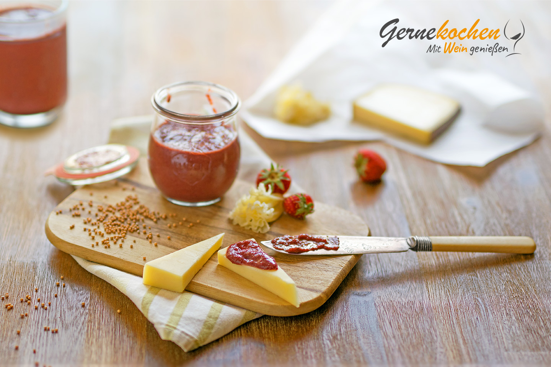 Gernekochen - Mit Wein genießen: Erdbeersenf