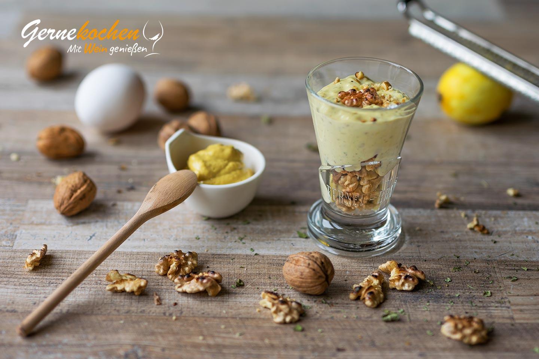 Walnuss-Mayonnaise. Gernekochen - Mit Wein genießen