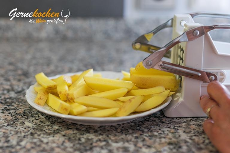 Mediterrane Pommes Frittes - Zubereitungsschritt 1.1