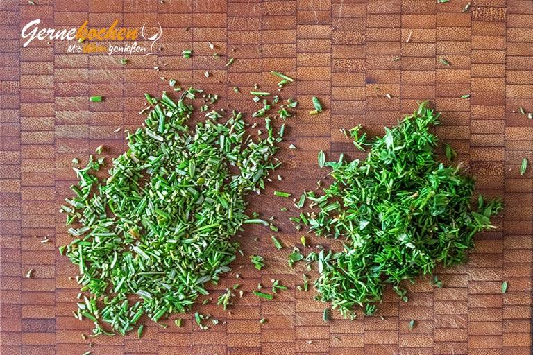 Mediterrane Pommes Frittes - Zubereitungsschritt 1.2