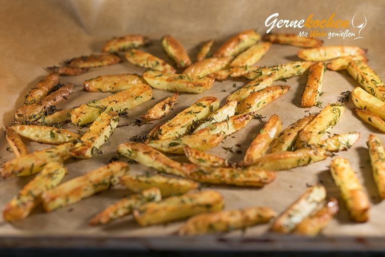 Pastinaken-Pommes frites - Zubereitungsschritt