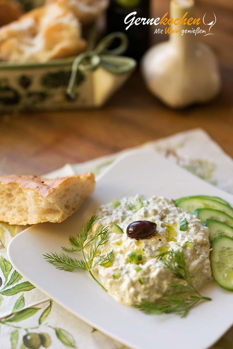 Tzatziki - original griechisch. Gernekochen - Mit Wein genießen