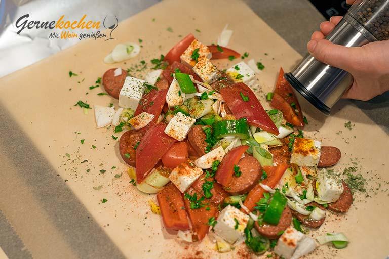 Feta-Gemüse-Päckchen – Zubereitungsschritt 2