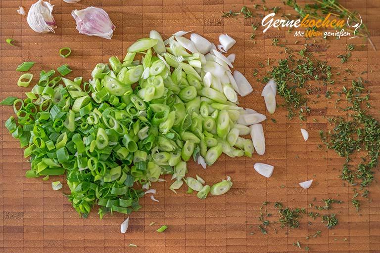 Garnelen in Feta-Tomatensauce - Zubereitungsschritt 2