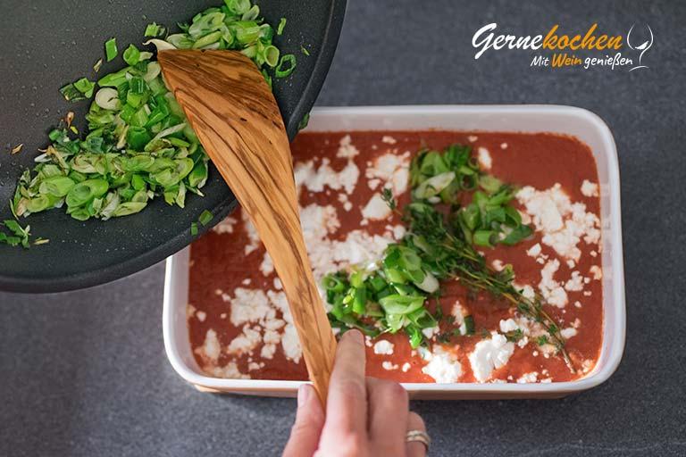 Garnelen in Feta-Tomatensauce - Zubereitungsschritt 3.2