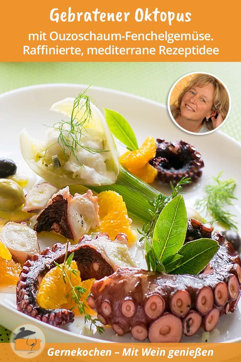 Gebratener Oktopus griechisch. Gernekochen - Mit Wein genießen