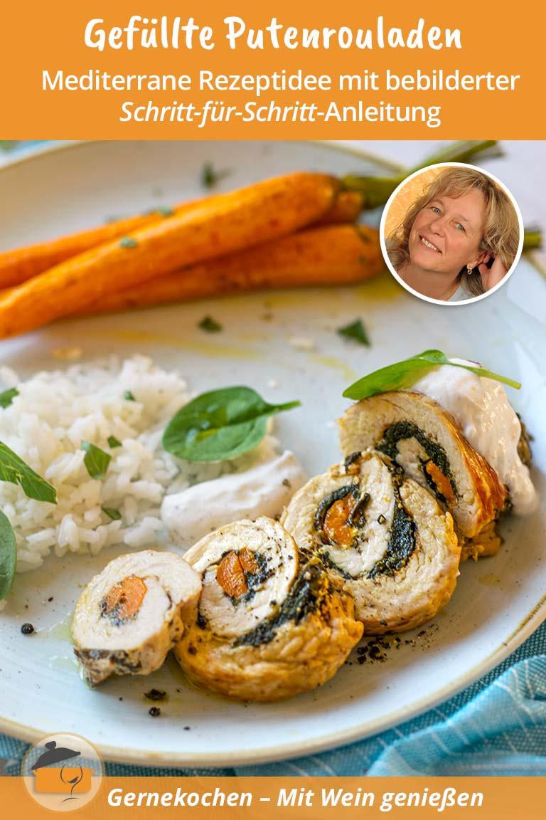 Gefüllte Putenrouladen mit Acquerello-Reis Rezept