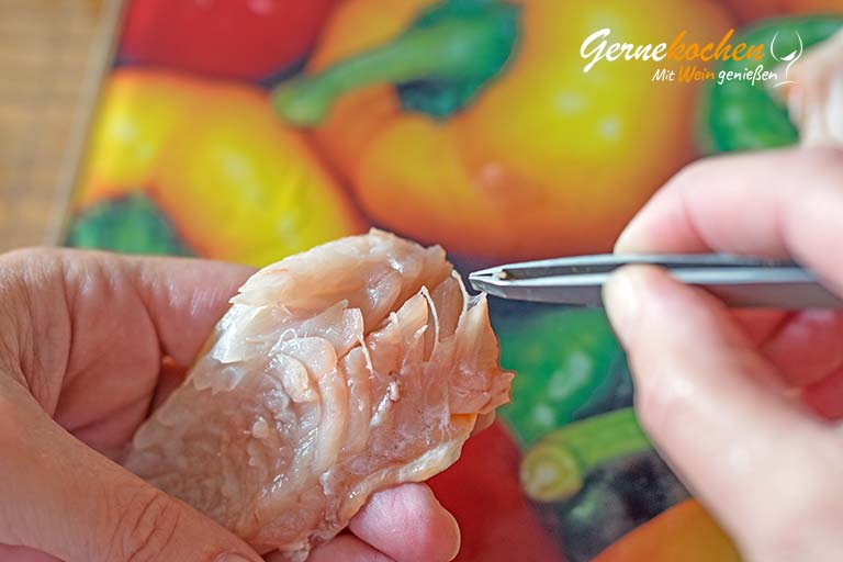 Gegrillte Rotbarben - Zubereitungtsschritt 1.4