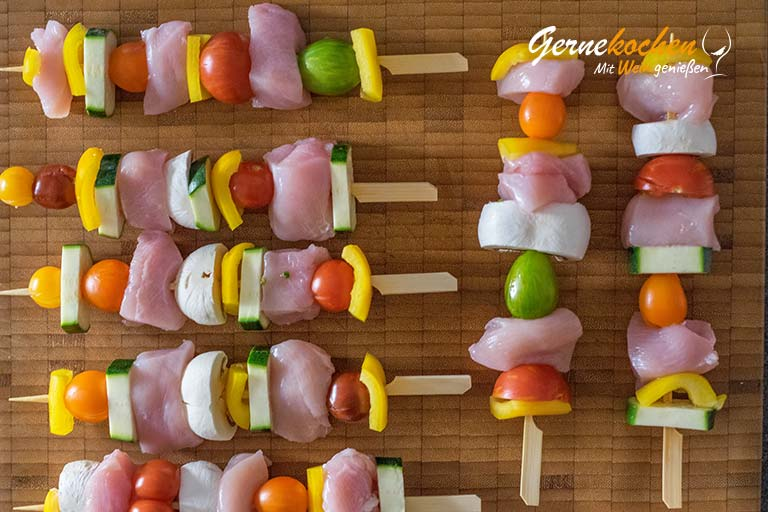 Hähnchen-Gemüse-Spieße vom Grill - Zubereitungsschritt 1