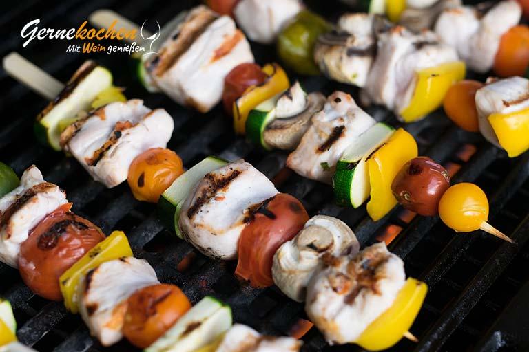 Hähnchen-Gemüse-Spieße vom Grill - Zubereitungsschritt 2