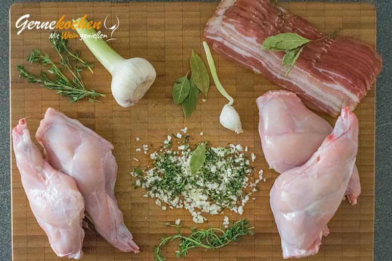 Mediterrane Kaninchenkeulen - Zubereitungsschritt 3.1
