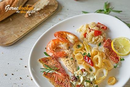 Poseidon-Teller mit mediterraner Mayonnaise Rezept