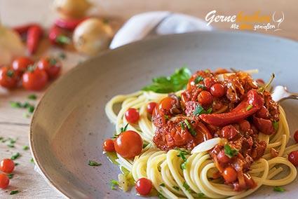 Spaghetti alla arrabiata Spaghetti all'arrabiata originale