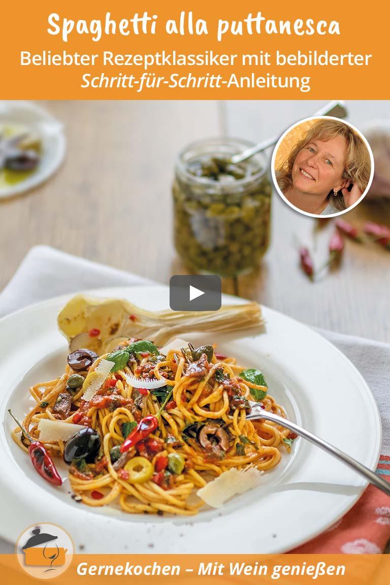Gernekochen - Mit Wein genießen: Spaghetti alla Puttanesca